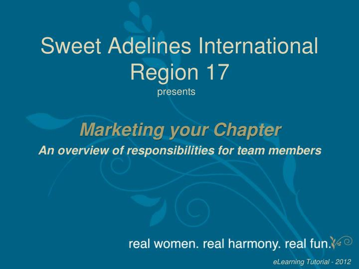 Sweet adelines international region 17