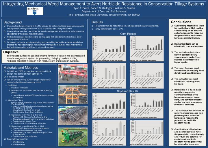 Integrating Mechanical Weed Management to Avert Herbicide Resistance in Conservation Tillage Systems...