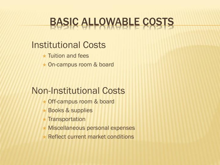 Institutional Costs