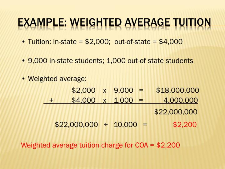 Tuition: in-state = $2,000;
