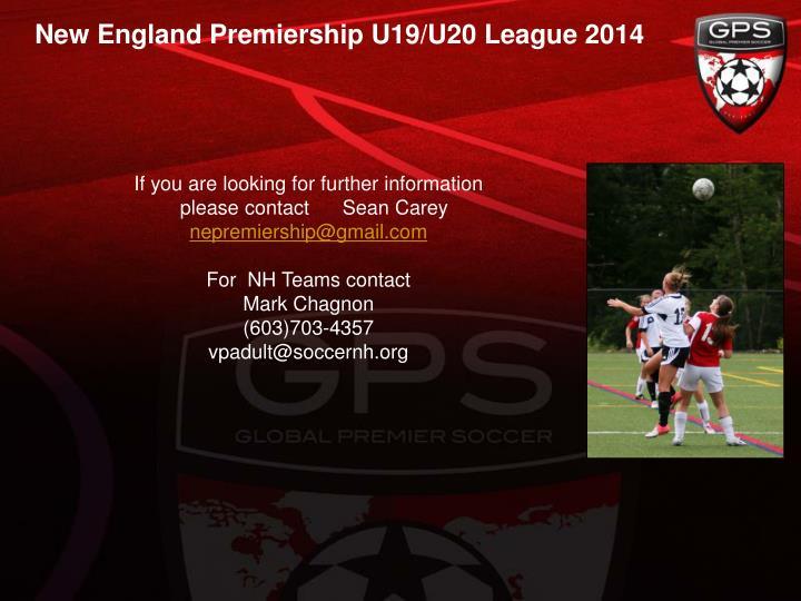 New England Premiership U19/U20 League 2014