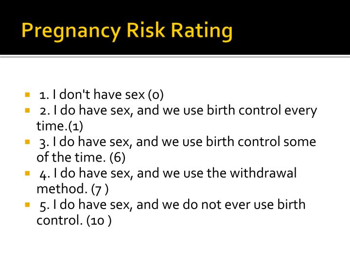 Pregnancy Risk Rating