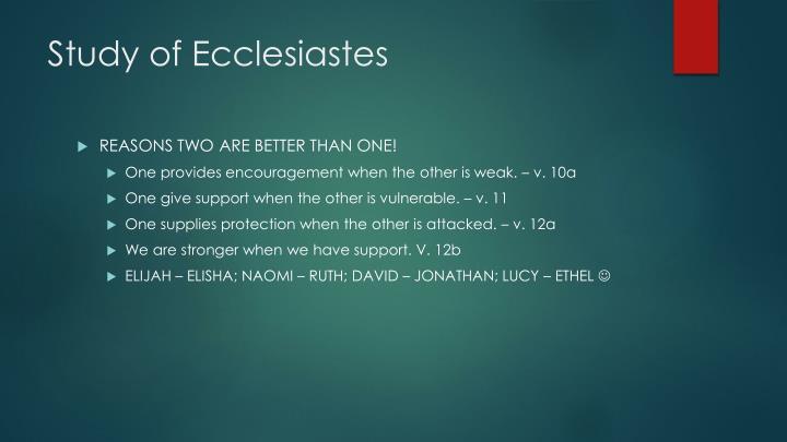 Study of Ecclesiastes