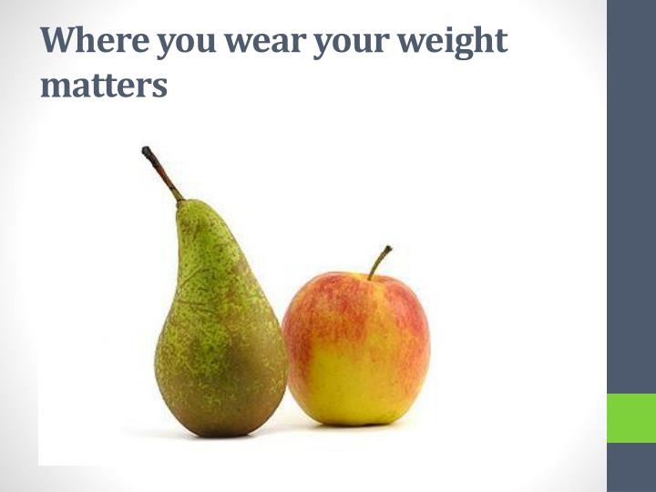 Where you wear your weight matters