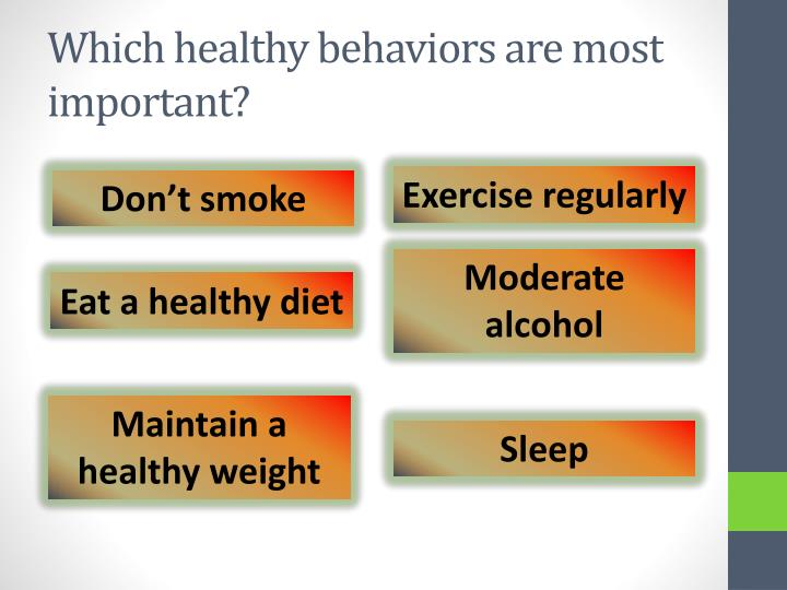 Which healthy behaviors are most important?