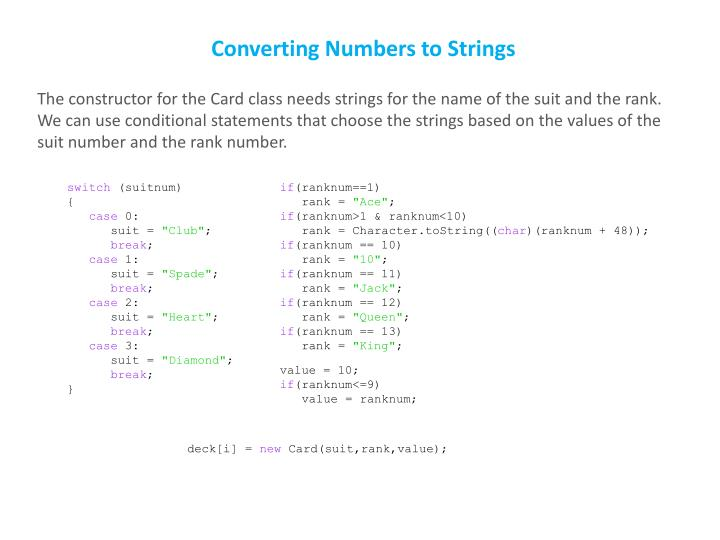 Converting Numbers to Strings