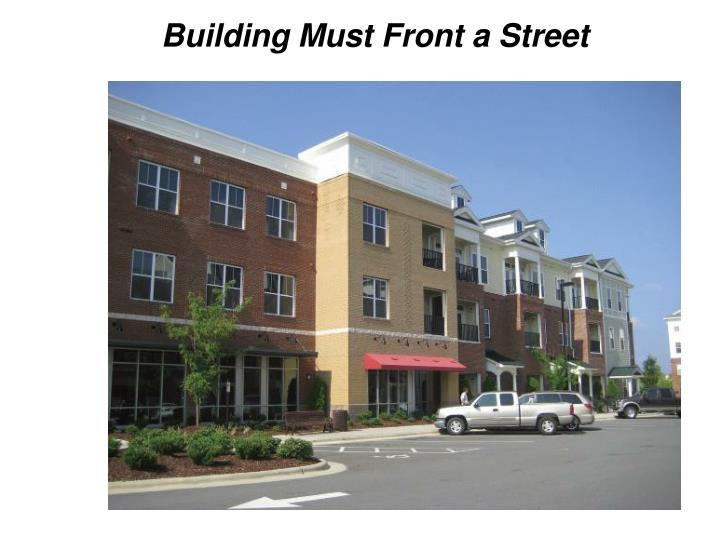 Building Must Front a Street