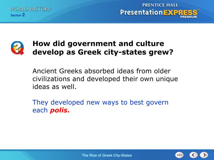 How did government and culture develop as Greek city-states grew?