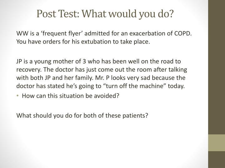 Post Test: