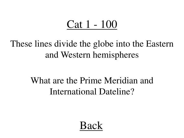 Cat 1 - 100