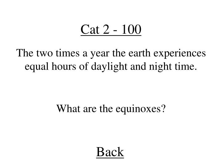 Cat 2 - 100