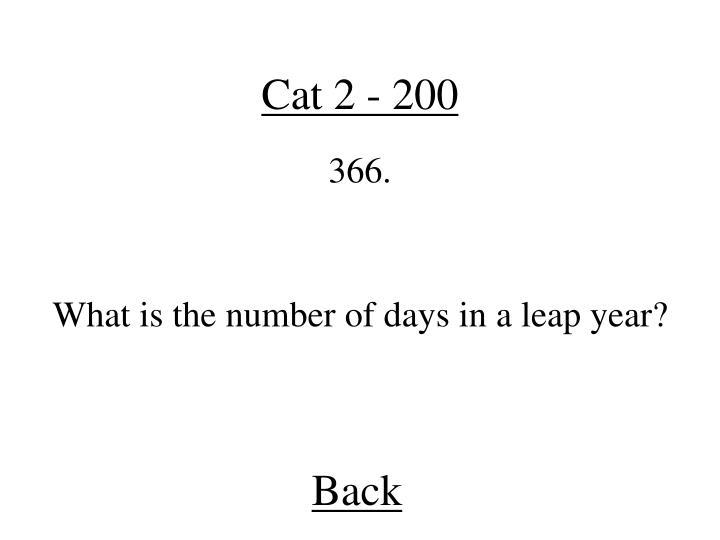 Cat 2 - 200