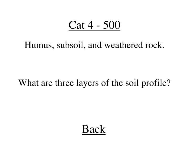 Cat 4 - 500