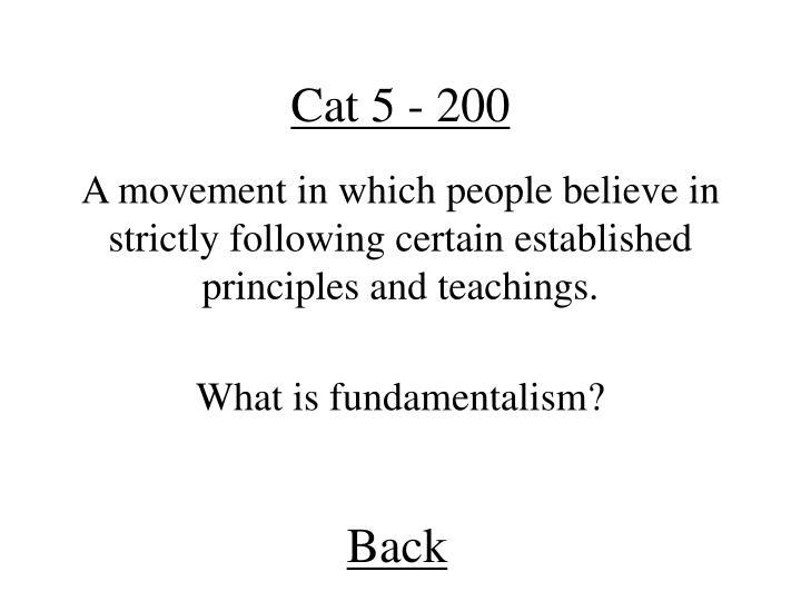 Cat 5 - 200