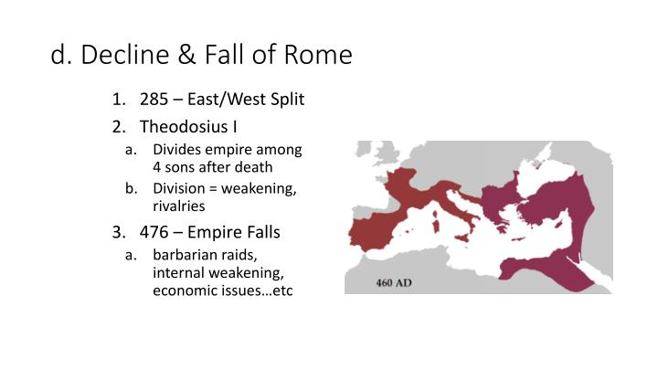 D decline fall of rome