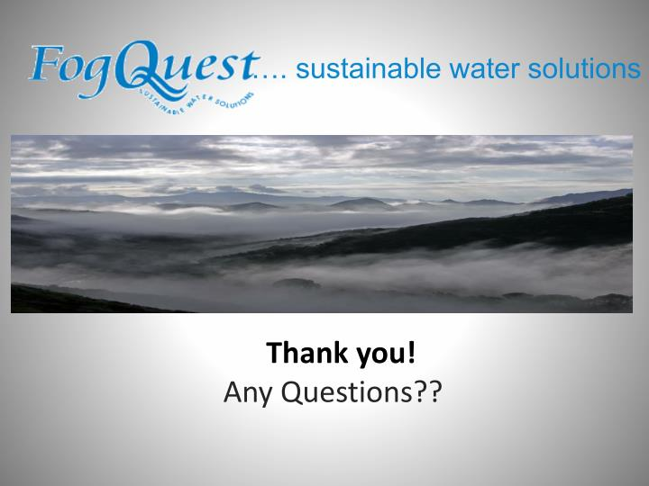 …. sustainable water solutions