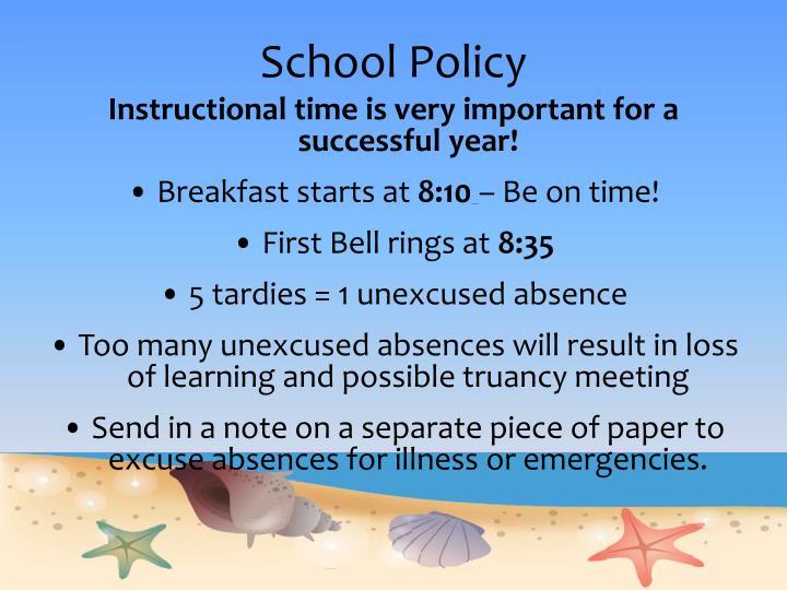 School Policy