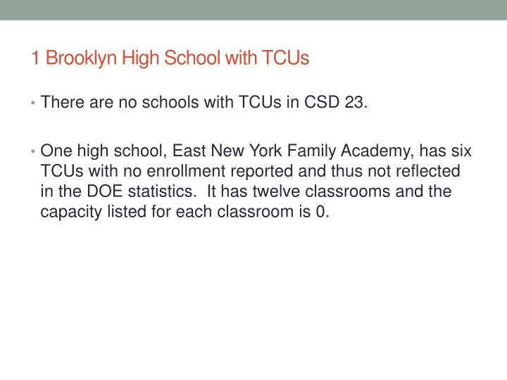 1 Brooklyn High School with TCUs