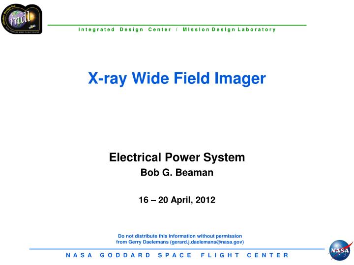 x ray wide field imager