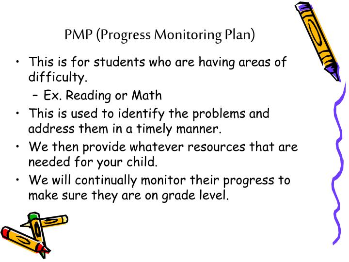 PMP (Progress Monitoring Plan)