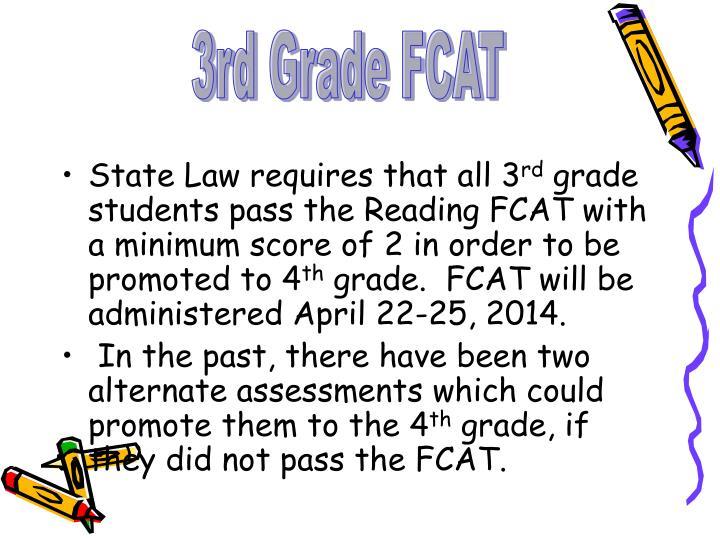 3rd Grade FCAT