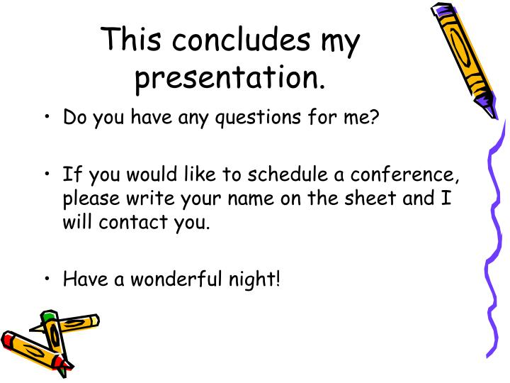 This concludes my presentation.