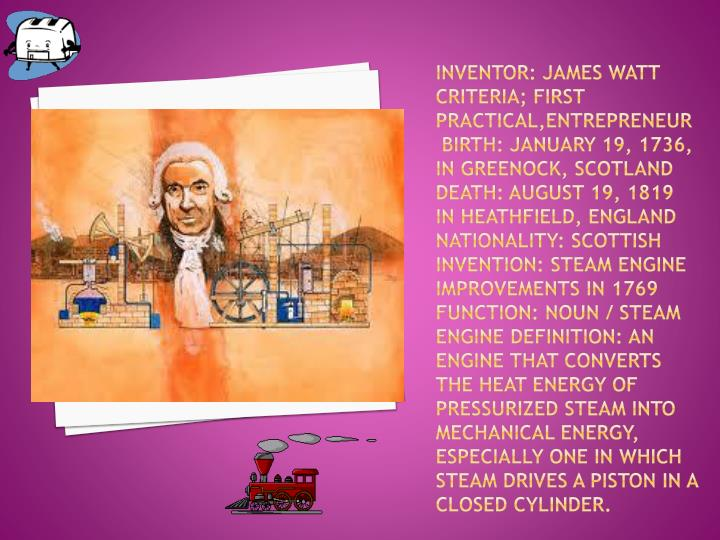 Inventor: James Watt
