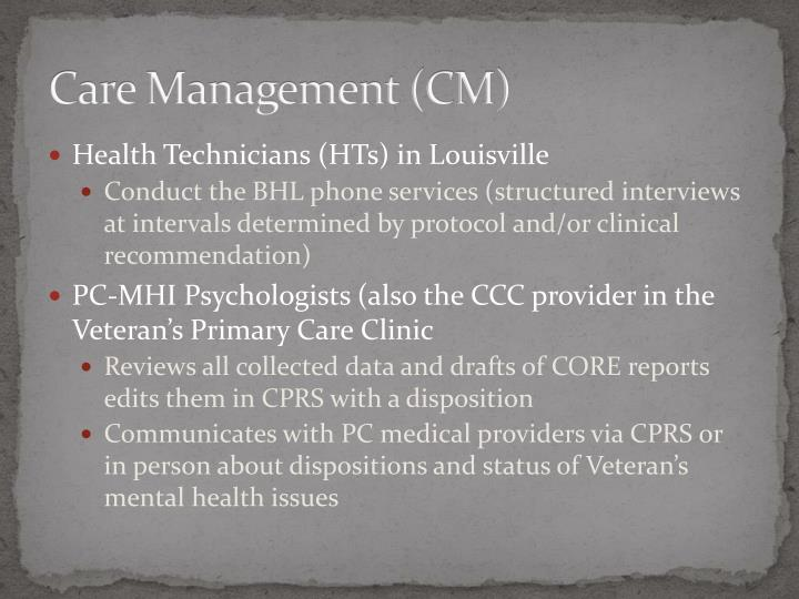 Care Management (CM)