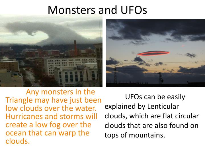 Monsters and UFOs