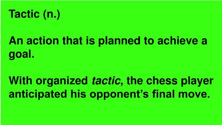 Tactic (n.)