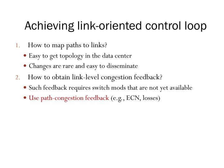 Achieving link-oriented