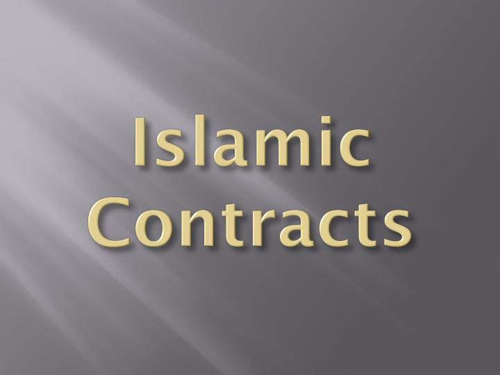 Islamic Contracts