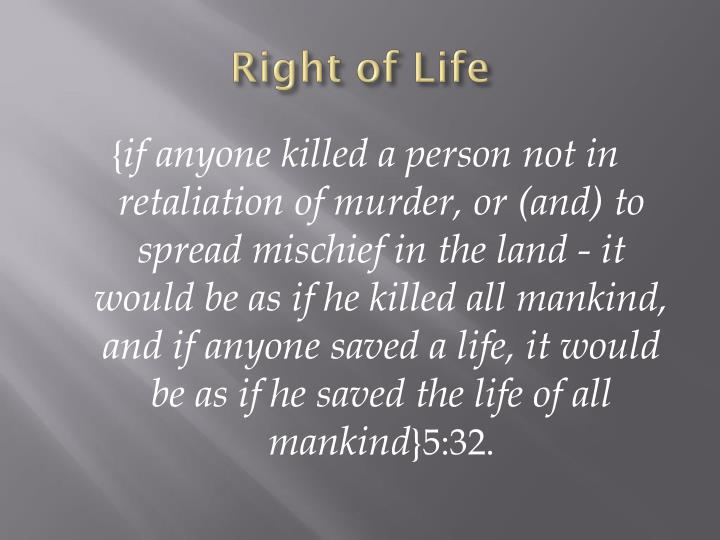 Right of Life