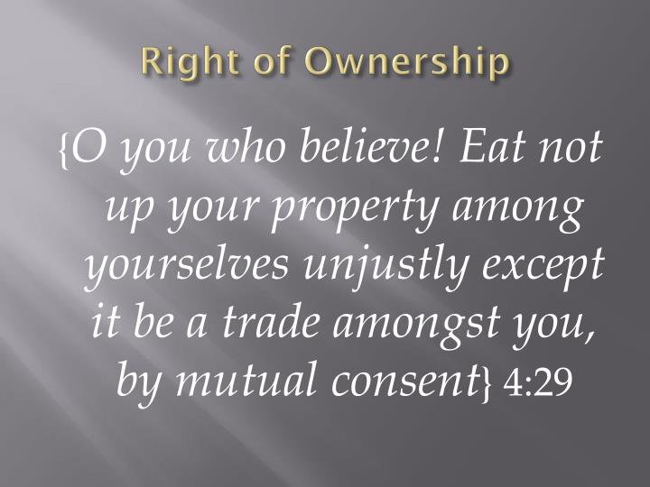 Right of Ownership