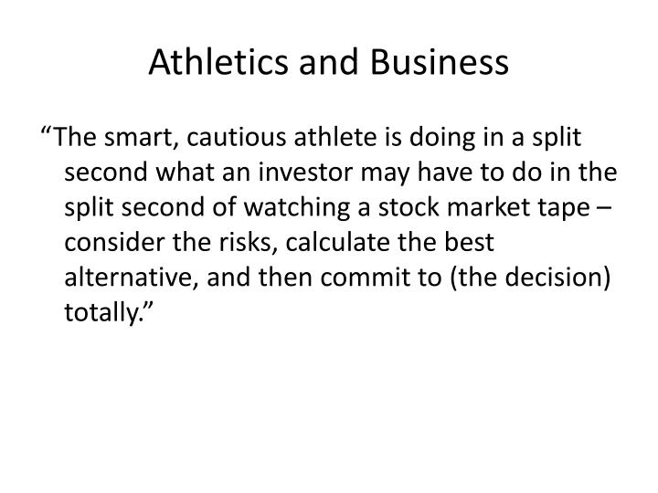 Athletics and Business