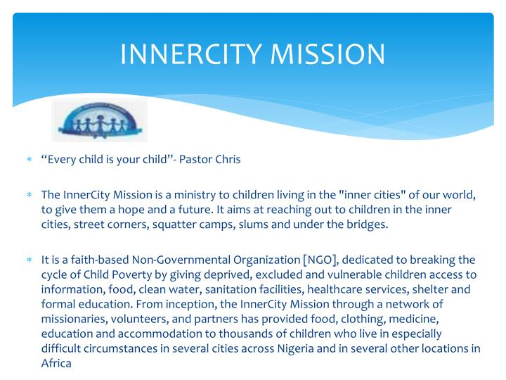 INNERCITY MISSION