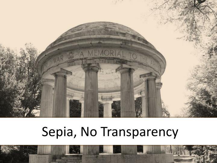 Sepia, No Transparency