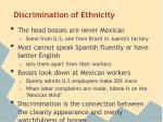 discrimination of ethnicity