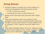 hiring women