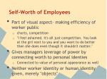self worth of employees