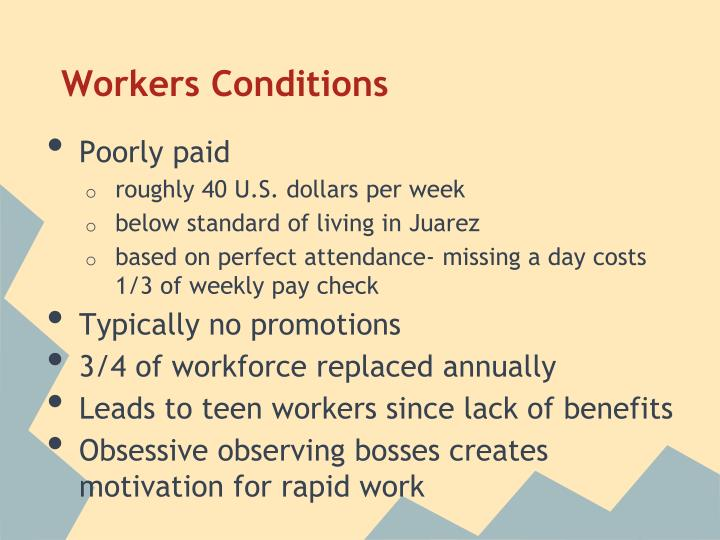 Workers Conditions