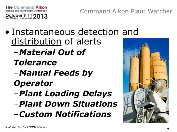 Command Alkon Plant Watcher