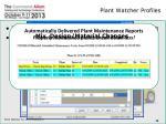 plant watcher profiles