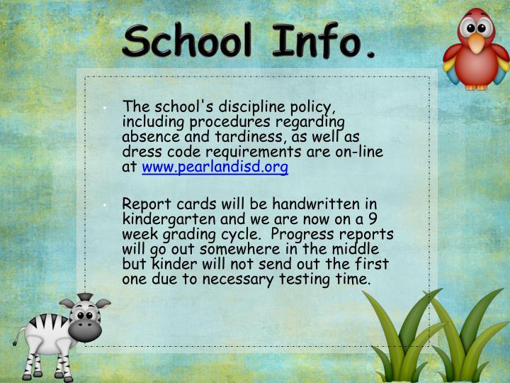 School Info.