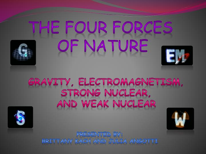 The four forces