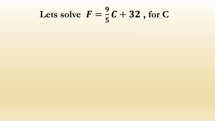 Lets solve