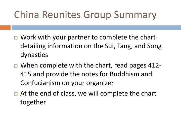 China Reunites Group Summary