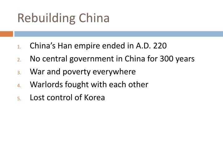 Rebuilding China