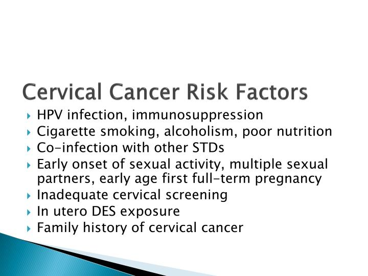 Cervical Cancer Risk Factors