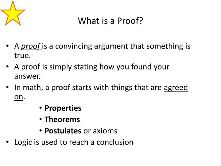 What is a proof